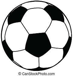 ボール, サッカー, シルエット, 分離