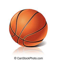 ボール, バスケットボール, ベクトル, イラスト