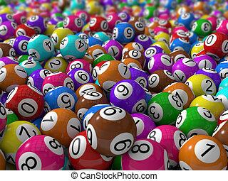 ボール, フィールド, 宝くじ, 深さ