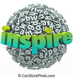 ボール, 単語, 促しなさい, 動機づけである, 球, 手紙, 教育, 3d