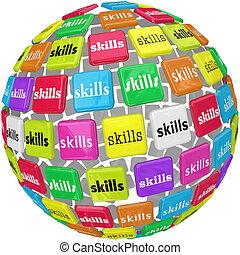 ボール, 単語, 技能, required, 経験, 球, 仕事, キャリア