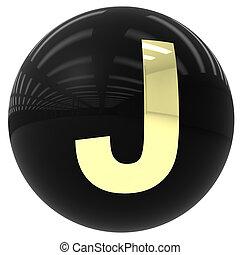 ボール, 手紙, j