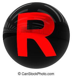 ボール, 手紙, r