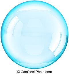 ボール, 有色人種, 水, シアン, 泡, 石鹸