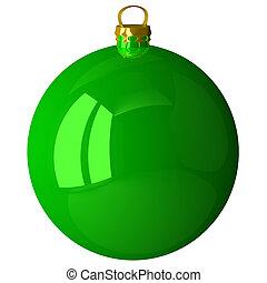 ボール, 緑, クリスマス, 隔離された