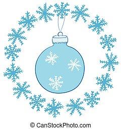 ボール, 雪片, クリスマス