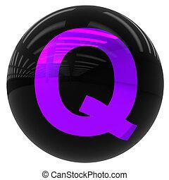 ボール, q, 手紙