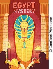 ポスター, エジプト人, ミステリー, ミイラ