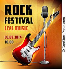 ポスター, コンサート, 岩