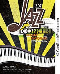 ポスター, ジャズコンサート