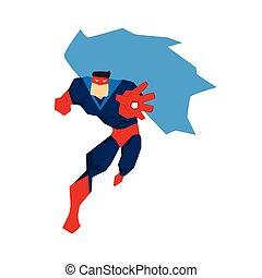 ポーズを取る, 行動, 別, superhero, シルエット