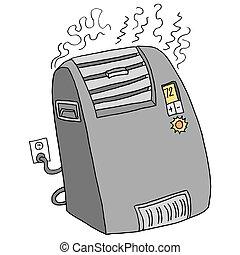 ポータブル, スペース, 電気加熱器
