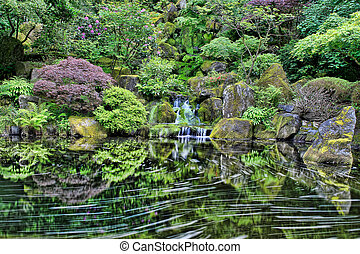 ポートランド, 滝, 庭の日本人