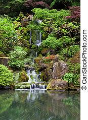 ポートランド, 滝, 庭, 滝のように流れ落ちる, 日本語