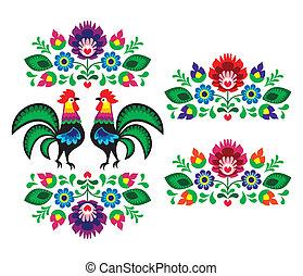 ポーランド語, 民族, 刺繍, 花