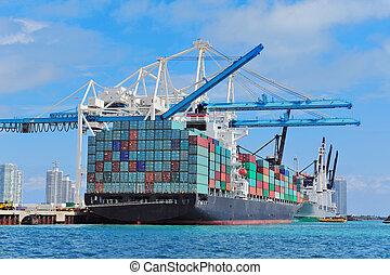 マイアミ, 貨物船, 港