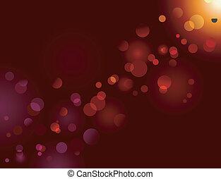 マジック, きらめき, ライト, bokeh, 効果, dots;, ベクトル