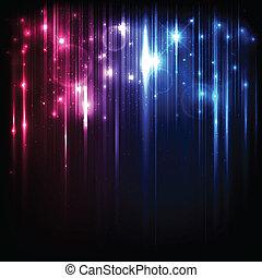 マジック, 星, ライト, 明るい, ベクトル, 背景