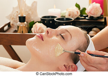 マスク, -, 適用, 化粧品, 美顔術