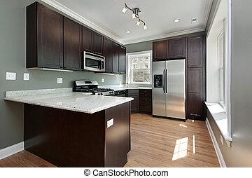 マホガニー, 木, cabinetry, 台所
