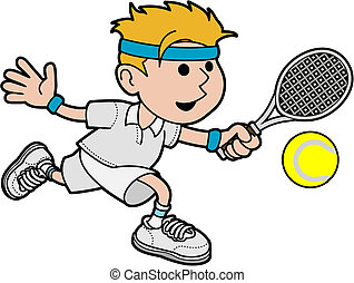 マレ, テニス, イラスト, プレーヤー