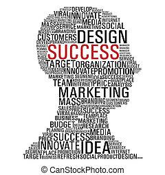 マーケティング, 頭, 成功, コミュニケーション