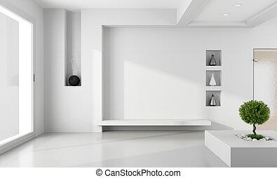 ミニマリスト, 白い部屋