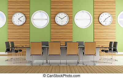 ミーティング, 現代, 部屋