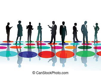 ミーティング, businesspeople, ポイント