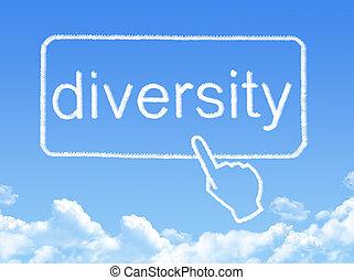 メッセージ, 多様性, 形, 雲