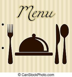 メニュー, 背景, レストラン