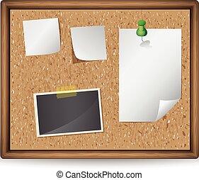 メモ, イラスト, 写真, 板, ブランク, ブレティン