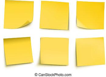 メモ, ポスト, 黄色, それ