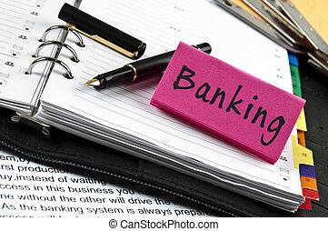メモ, 銀行業, ペン, 議題
