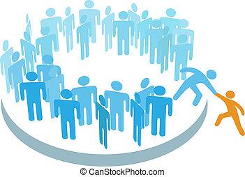 メンバー, グループ, 助け, 人々, 大きい, 新しい, 参加しなさい
