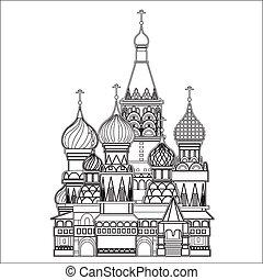 モスクワ, ベクトル, 聖者, バジル, 大聖堂