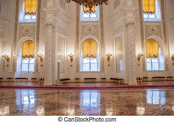 モスクワ, 宮殿, kremlin, georgievsky, ホール