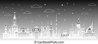 モスクワ, 都市, 勾配, 3