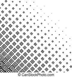 モノクローム, halftone, 抽象的, 背景