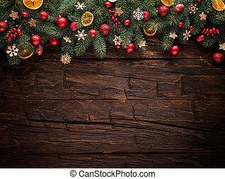 モミ, 木製である, 木, 装飾, 板, クリスマス