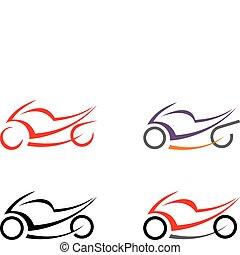 モーターバイク, ベクトル, -, オートバイ, imag