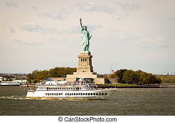 ヨーク, 像, 群がること, 新しい, 観光客, 自由