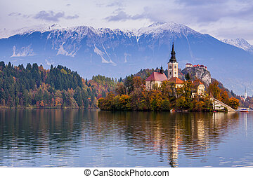 ヨーロッパ, 出血させる, 湖, スロベニア