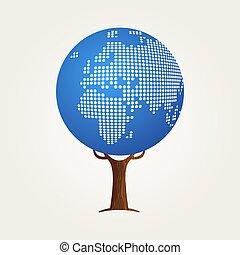 ヨーロッパ, 地図, 概念, コミュニケーション, 世界的である, 世界