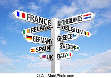 ヨーロッパ, 道標