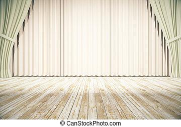 ライト, ステージ, カーテン