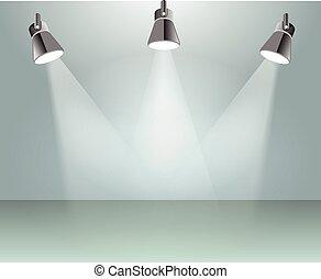 ライト, ベクトル, スポット, イラスト
