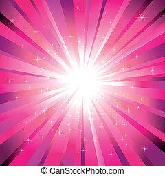 ライト, マゼンタ, 星, 光っていること, 爆発
