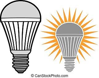 ライト, リードした, 電球