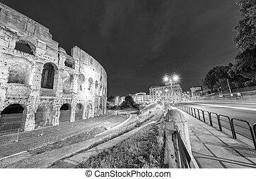 ライト, ローマ, colosseum, 夜